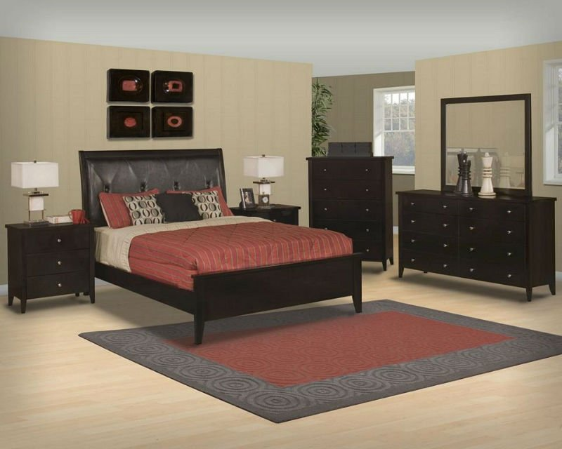 5 Pcs. Black Cherry Wood Contemporary Queen Bedroom Set - Buy Queen Bedroom  Sets Designs Product on Alibaba.com