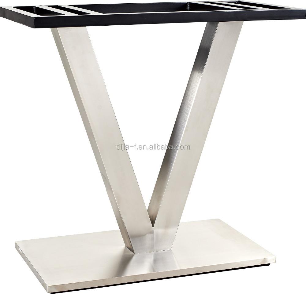 Modern Stainless Steel Pedestal Table Base Dj-ls020