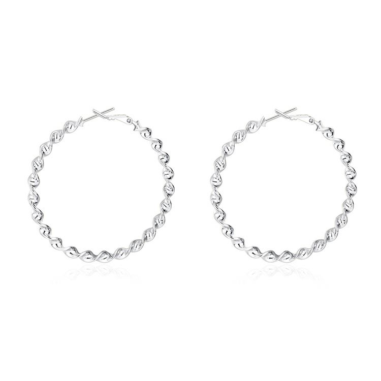2017 newest boy simple big hoop earings wholesale