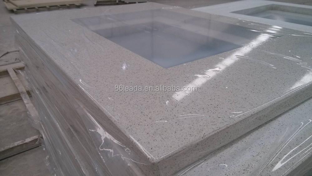 Flat Edge Eased Edge Countertop Quartz Stone Bathroom