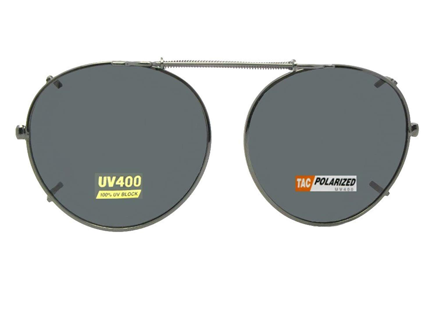603d2b0facd Get Quotations · Sunglass Rage Semi Round Polarized Clip on Sunglasses