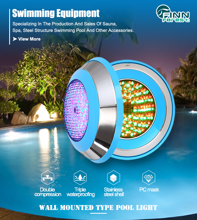 Remote Color Change 18W Par56 Ip68 Waterproof Led  Swimming Pool Light