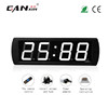 "[GANXIN]4"" 4 Digits Large Screen Led Digital Table Alarm Clock Prayer Time Clock with Time and Temp Display"