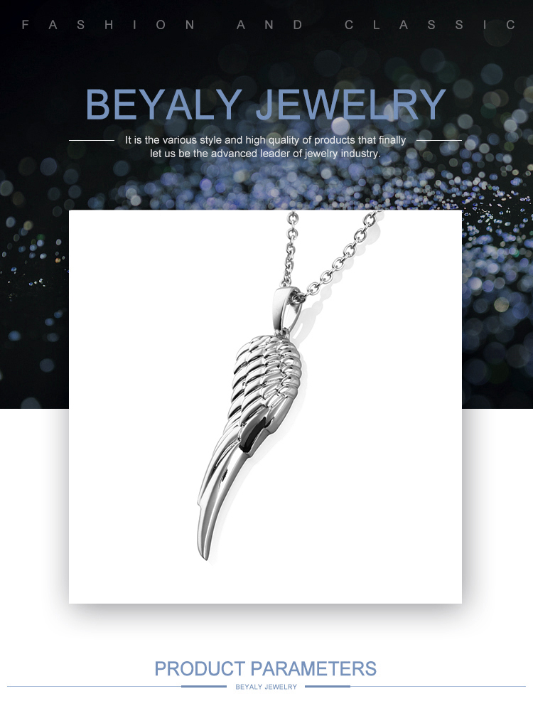 Plating platinum wing design bulk fashion jewelry china