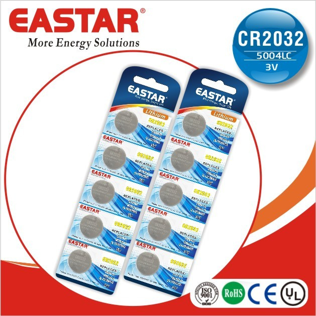blister card 3v battery cr2035 cr 2032 coin batteries