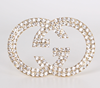 Fashion jewelry charm letter diamond brooch pin, G G brooch