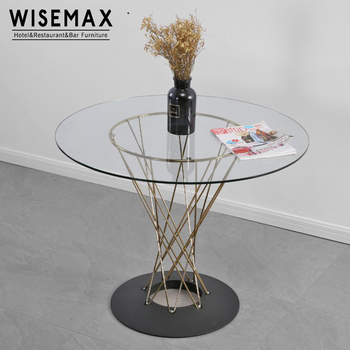 Modern Leisure Patio Wire Base Round Metal Plating Legs Tempered Glass  Dining Table   Buy Glass Dining Table,Round Glass Table,Metal Table Legs ...