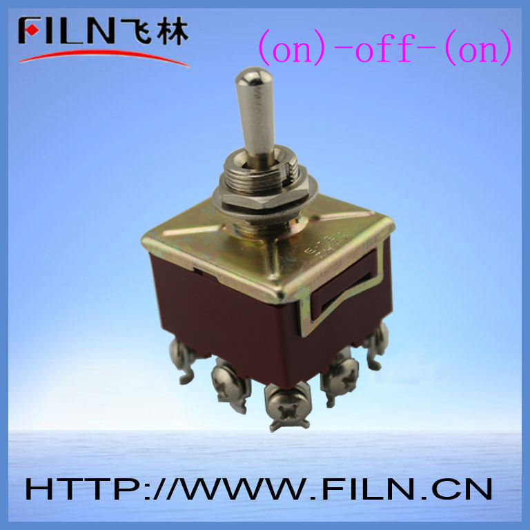 3 way 9 pin spring loaded toggle switch
