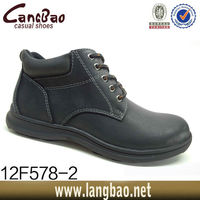 LABO Men's Winter Snow Boots Shoes Black/Gray Genuine Leather Waterproof Sizes