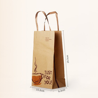 Promotional cheap brown paper bags with handles, paper bag with logo print