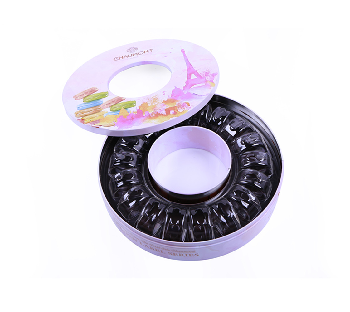 Creative Oval eyeglasses packaging tin box glasses tin case