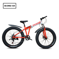 New Arrival Product OEM Fat Tire Bike High Carbon Steel Folding Snow Bicycle Giant Mountain Bike