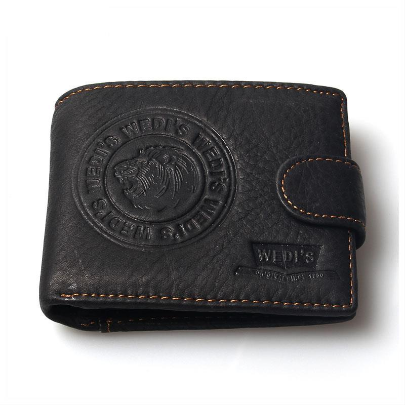 2015 New Fashion Vintage Purse Men Wallets Brand Leather Circle Lion Retro Wallet Genuine Leather For Men Clutch Coin Purses
