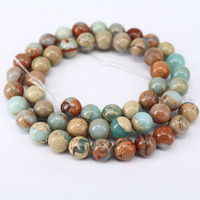SB6480 Wholesale natural snake skin jasper gemstone beads,Aqua Terra Jasper Beads African Opal Beads