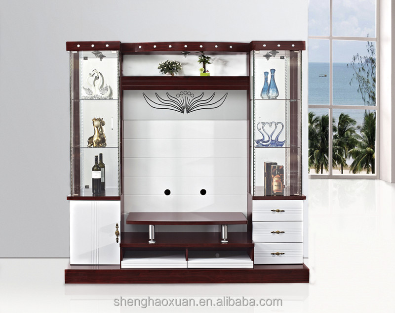 Wooden Design 80 Inch Modern Lcd Tv Wall Unit 9904 Tv