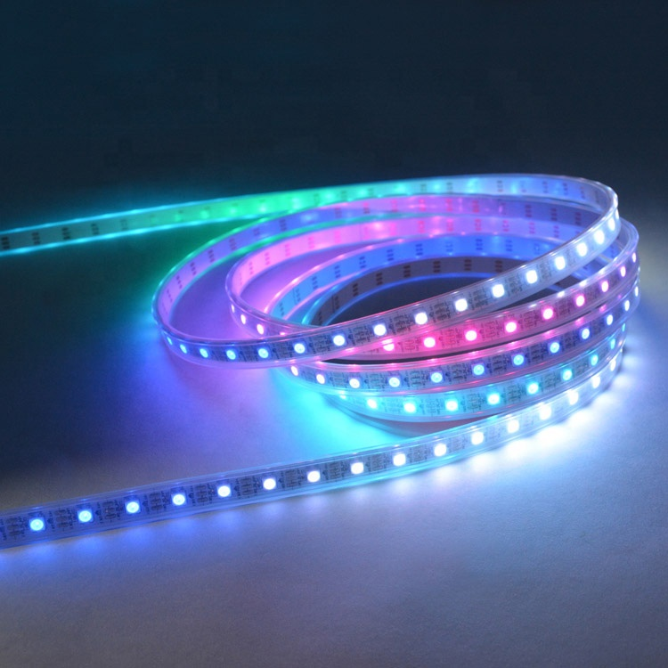 4m 60leds/m Addressable Ws2812b Led Strip Light Ws2812 Flexible Digital Strips Rgb Pixel 5050 Smd Lamp White Pcb Waterproof Ip65 Led Strips Led Lighting