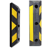 600*160*120mm yellow and black rubber wheel locator car parking stopper