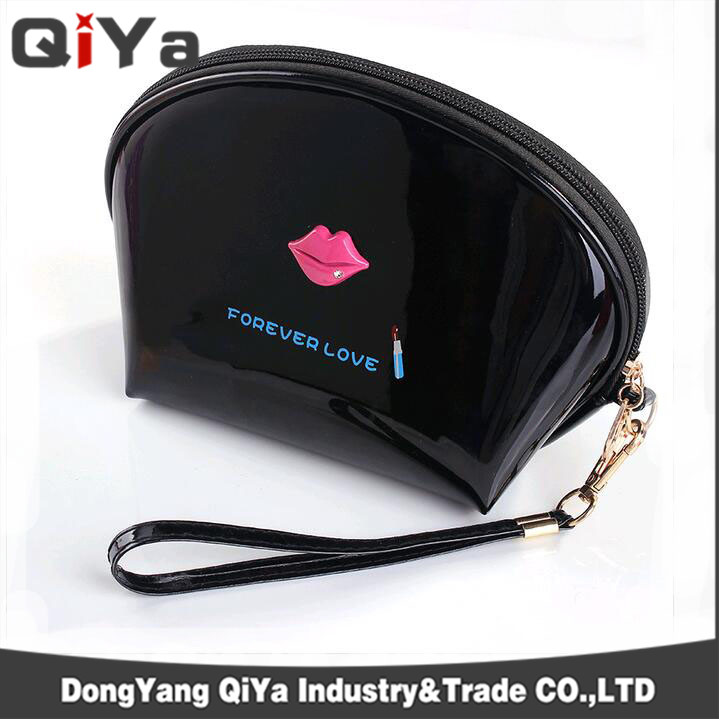 Costom Neon Colourful Jelly Lip Portable PVC Cosmetic Makeup Bags Evening Dinner Bag Beauty Pouch
