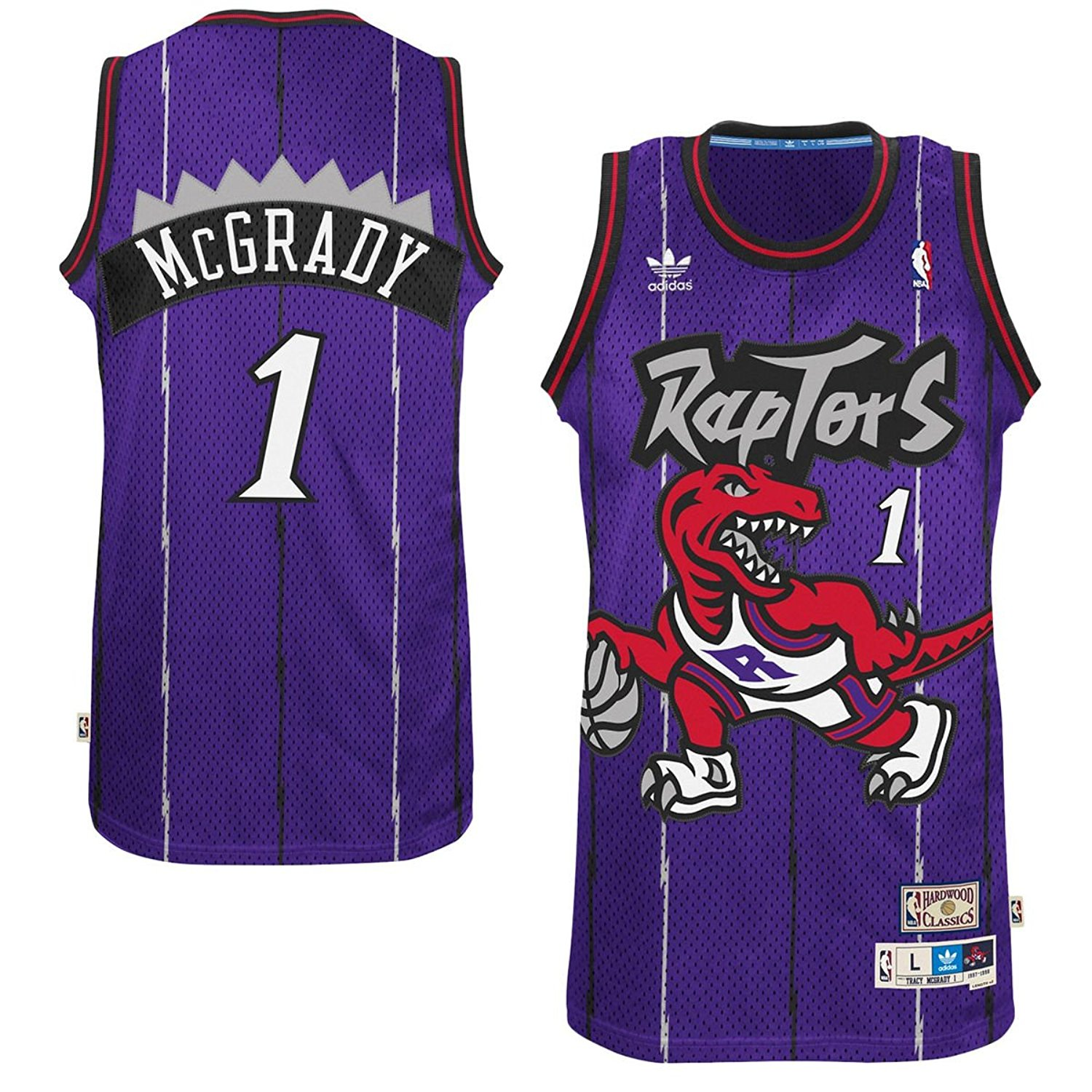 e05a70fdc8b Get Quotations · Tracy McGrady Toronto Raptors  1 Purple Youth NBA Hardwood  Classic Jersey