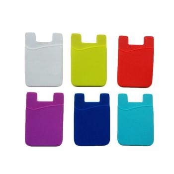 Customized silicone mobile phone card holder silicone phone wallet silicone mobile phone pocket