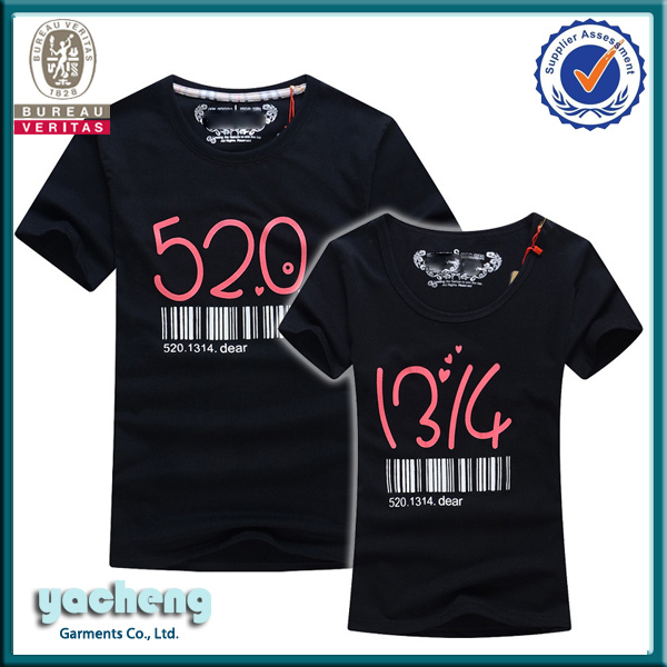 Wholesale Clothing Love Couple T-shirt Design Custom T Shirt ...