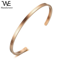 Fashion Stainless Steel Personalized Letter Engraved Custom Gold Cuff Bracelet for Women Jewelry