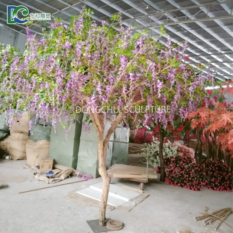 Guangzhou Factory Price Small Real Trunk Flower Tree Purple
