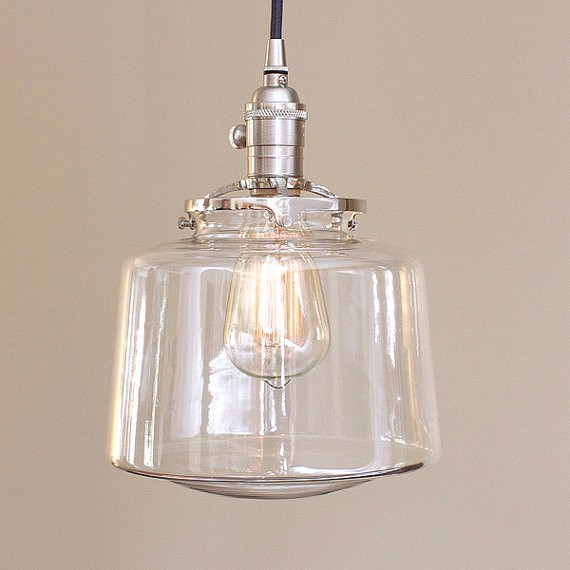 7 2 2 maison d 39 cole globe globe de verre clair for Globe luminaire