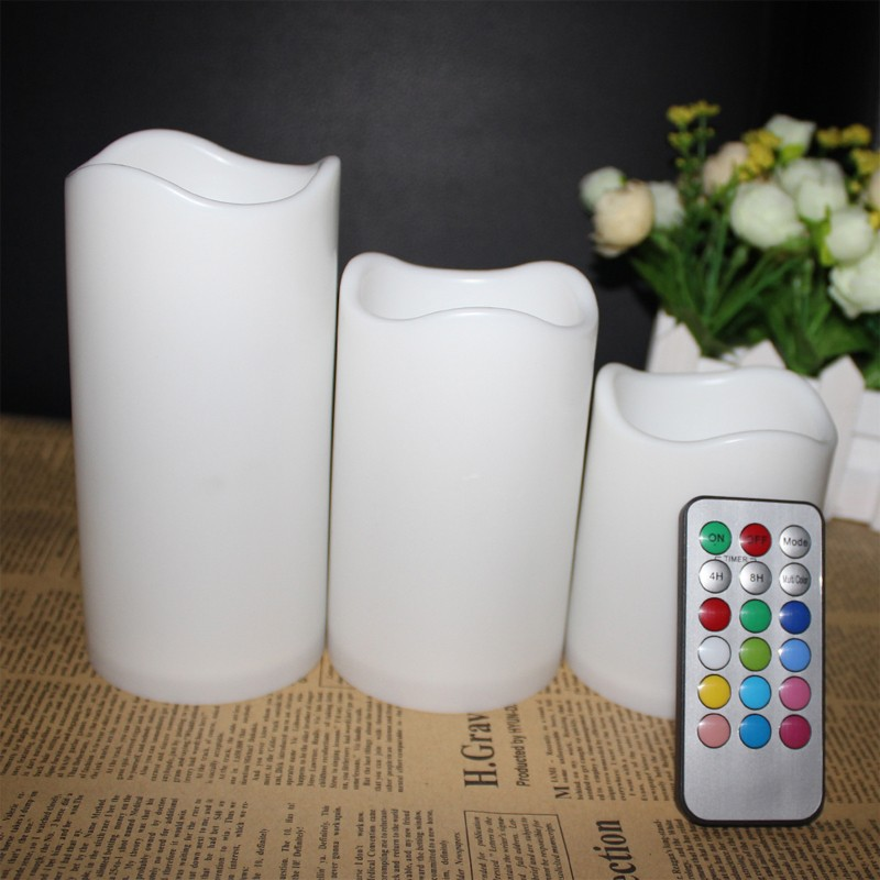 Remote 18 keys control led candles LED candle with 7.5 cm *7.5/10/12.5/15cm three size/set