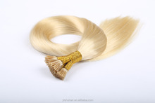 Wholesale Keratin I Tip Hair 10A Grade Pre-Bonded Blond Color I Tip straight human Hair extension