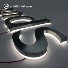 JAGUAR SIGN Outdoor waterproof 3d backlit business signs chrome metal letter signs