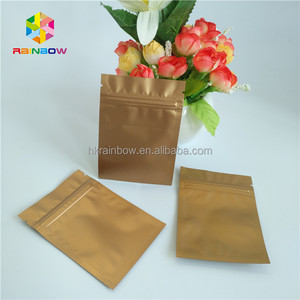 Small aluminum foil food packaging packet 1g 3g resealable three side seal Mylar zip lock bags with custom design