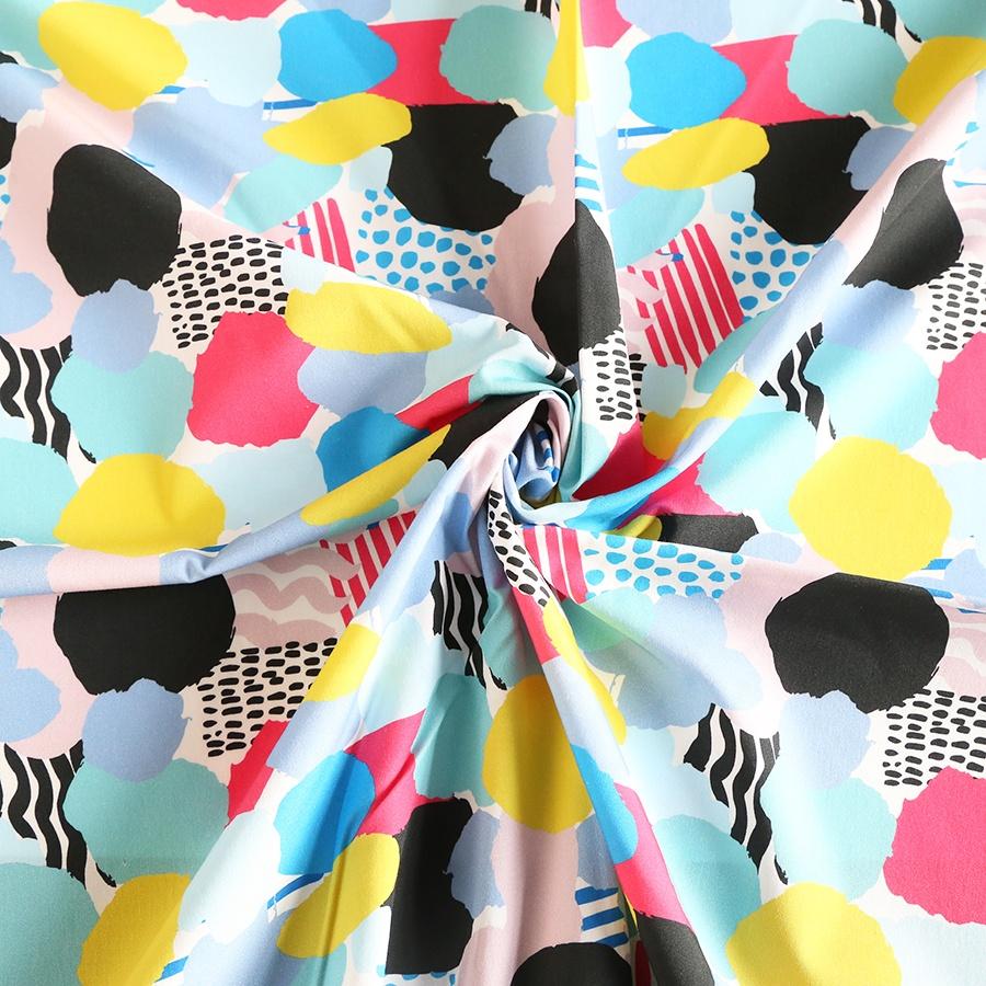 Custom digital print modal woven fabric for garment