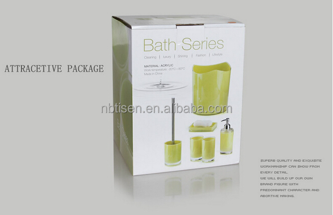 Bathroom Accessories Packaging acrylic/plastic bathroom accessories set (ts8015-7) - buy plastic