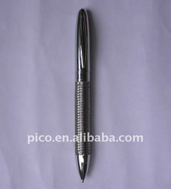 Gift Promotional Metal Stainless Steel Wire Braid Metal Ballpoint Pen With Customized Logo