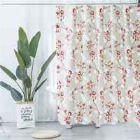 High quality waterproof plastic shower curtain for bathroom
