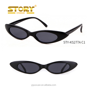 STORY STY-KS277A small oval black red white cheap promotional sunglasses funky