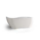 Luxurious hotel standard popular freestanding wave boat shaped solid surface bath tub acrylic resin stone bathroom bathtub