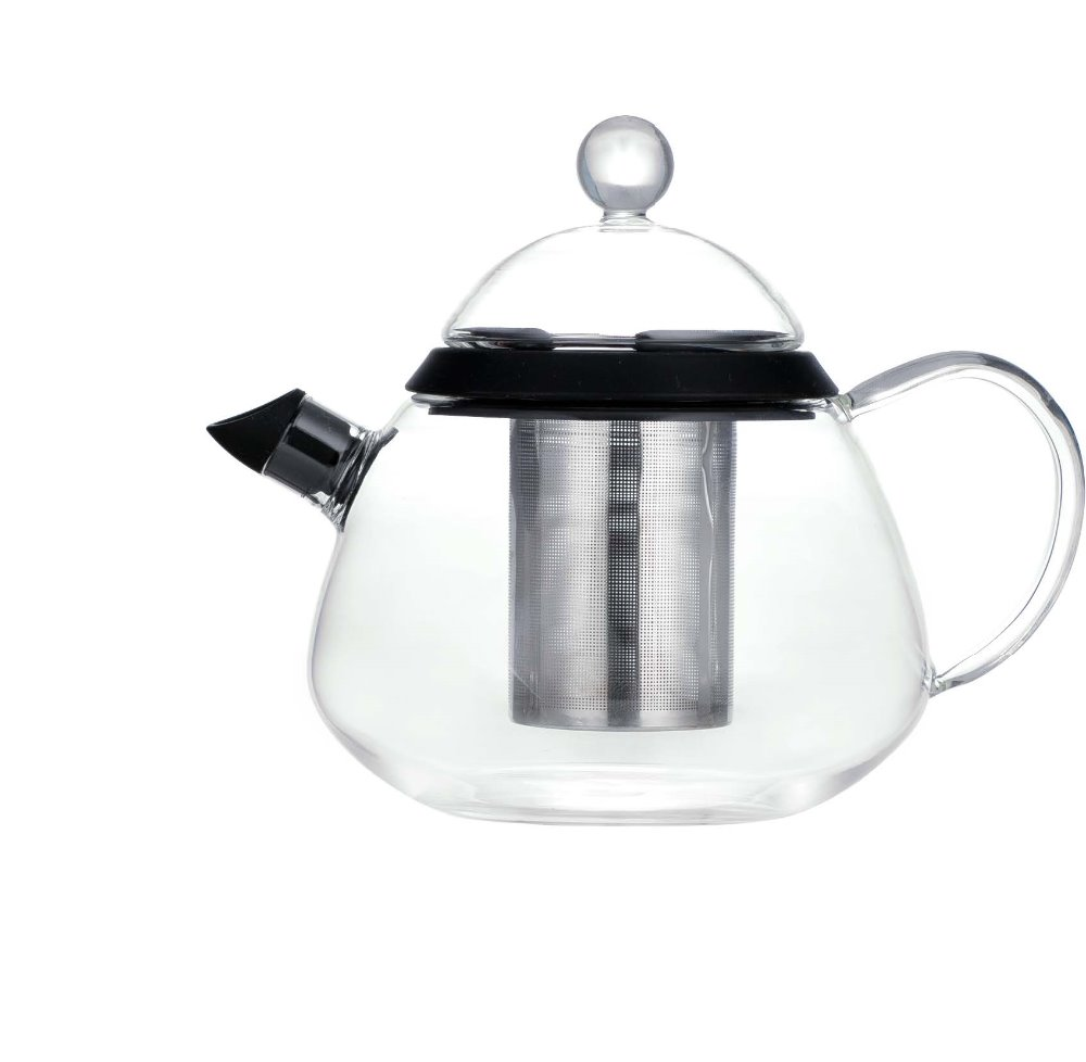 SINOGLASS trade assurance with infuser high grade borosilicate glass teapot