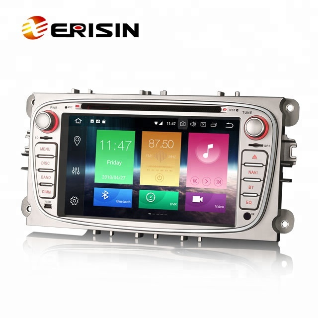 Erisin ES7409FS Android 8.0 4g GPS DAB + DVR RDS Canbus MP4 Auto Dvd-speler voor Ford Mondeo Focus s/C-Max Galaxy