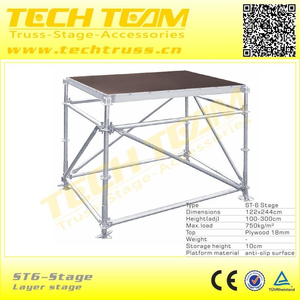 outdoor concert stage sale , Sale aluminum frame stage with plywood platform