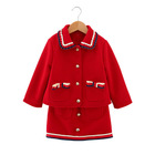 New arrival baby clothing sets toddler girls winter woolen clothing suit girls warm clothing sets