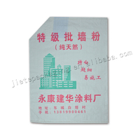 popular style pp woven wall putty powder packaging bag