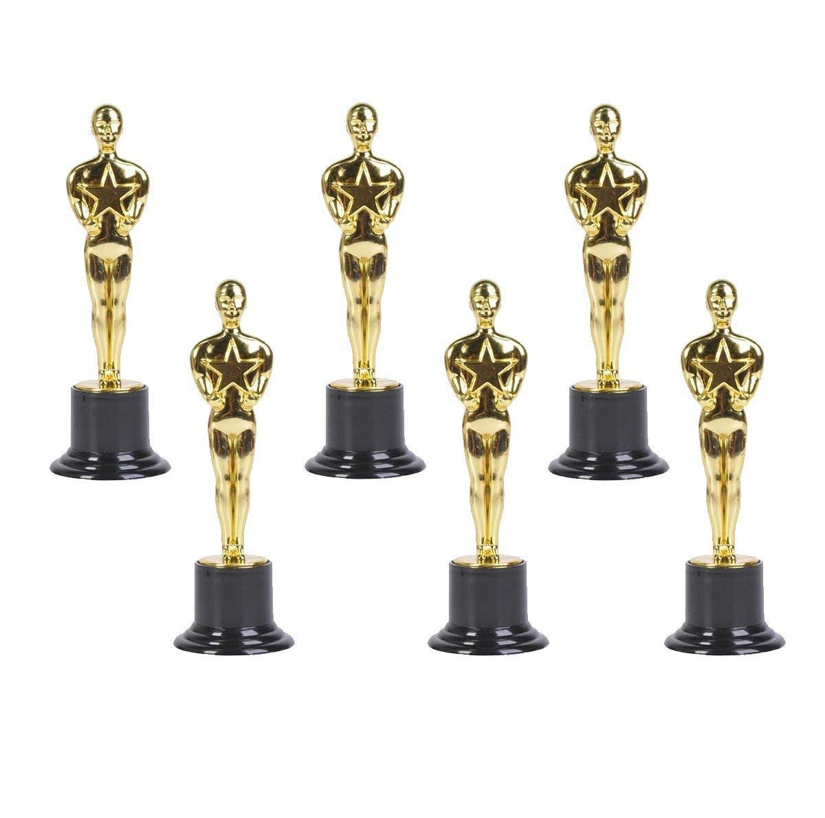 "Oscar Gold Award Trophies, 6"" Trophy Statues - Oscar Statues - Awards for Party Celebrations, Appreciation Gift, Sport Awards, Academy Awards, Awards for Teachers and Students (Set of 12) By Neliblu"