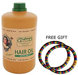 "Shahnaz Husain Professional Power Hair Oil - 1000ml - ""FREE SHIPPING via DHL Express"" - Delivery in 3-7 days and FREE GIFT (Pair of Multicolor Bangles)"