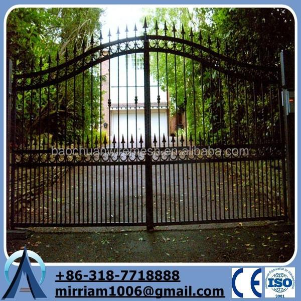Usato cancello ferro battuto/residenziale cancello per standard europeo(Factory prezzo ...