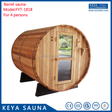 Red cedar outdoor steam sauna room 1800*1800mm for sale