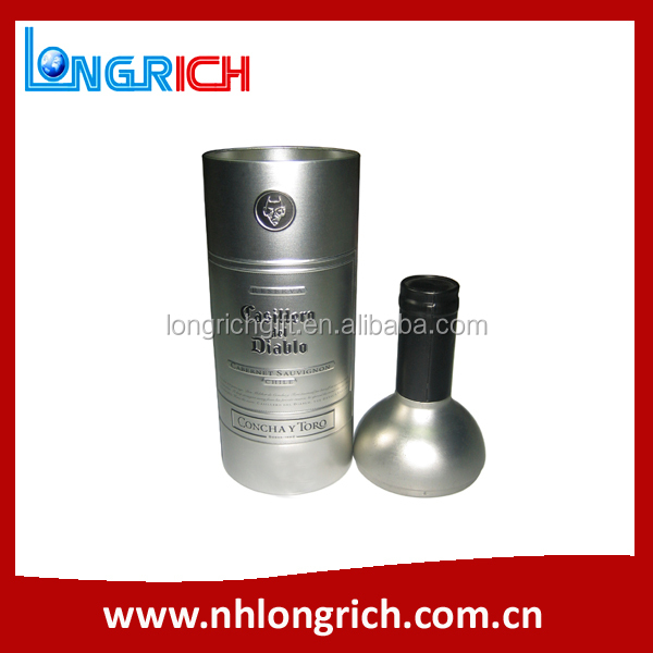 special single bottle shaped tin box, wine tin can