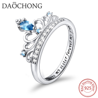 hot products popular women jewelry 925 Sterling Silver Princess Crown Ring