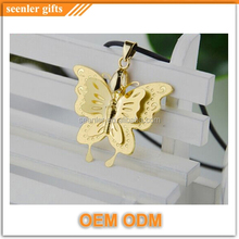 24 carat gold fashion butterfly necklace pendant